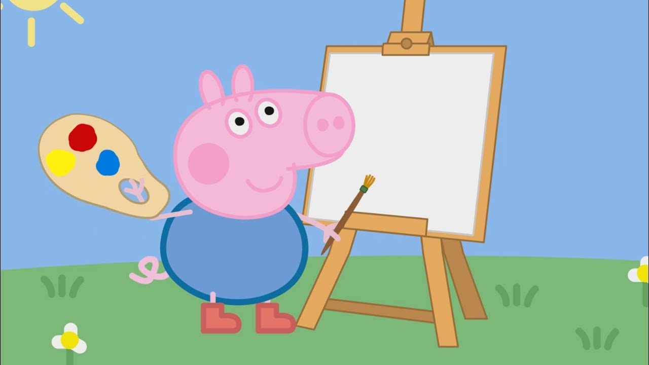 Peppa Pig English Episodes New Compilation George Painting Learning Colors Youtube