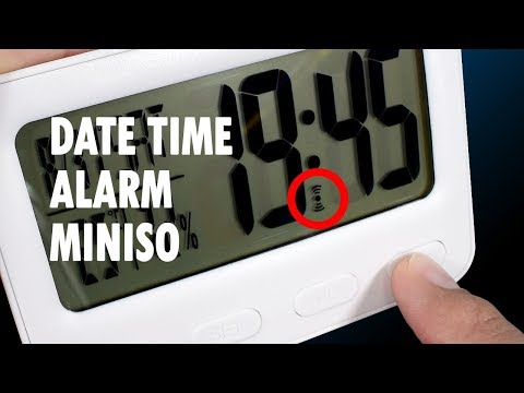 How To Set Date Time Alarm Hourly Miniso LCD Clock Gaak