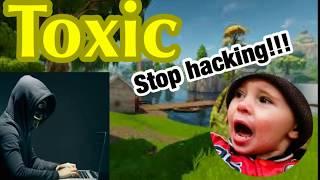 Kids think I have aimbot! Random playgrounds | Fortnite Battle Royal