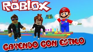 """FALLING WITH STYLE - Roblox """"Escape Super Mario"""" feat. July327"""