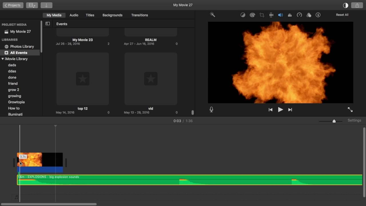 Imovie Tutorial How to Add Explosions Over A VIDEO! //QUICK AND EASY\\