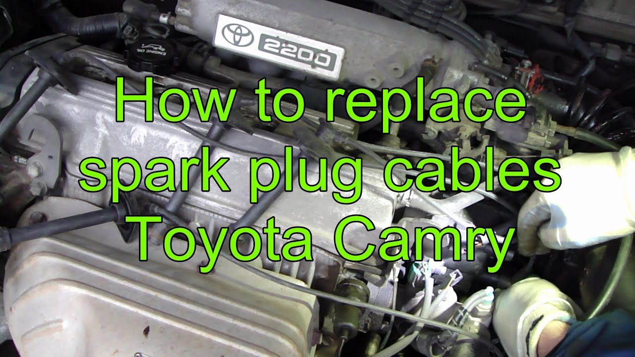 maxresdefault how to replace spark plug cables toyota camry youtube 1997 toyota avalon spark plug wiring diagram at creativeand.co