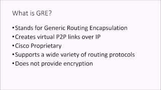 How to configure a GRE Tunnel on a Cisco Router