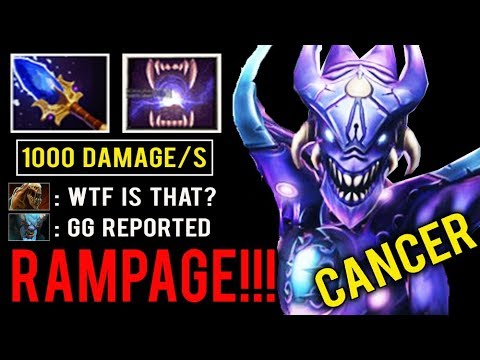 OMG IS THIS EVEN DOTA? 1000 Damage Per Sec RAMPAGE New 7.24 Bane Rework Skill Most Cancer Mid Dota 2