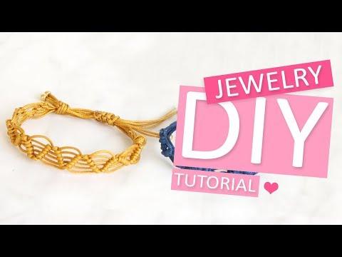 DIY Tutorial – 'Half hitch' macramé armband - Zelf sieraden maken
