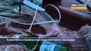 Охота на браконьеров в Каспийском море(Российские пограничники патрулируют дельту Волги и северную часть Каспийкого моря в поисках браконьеров...., 2012-05-21T11:49:50.000Z)