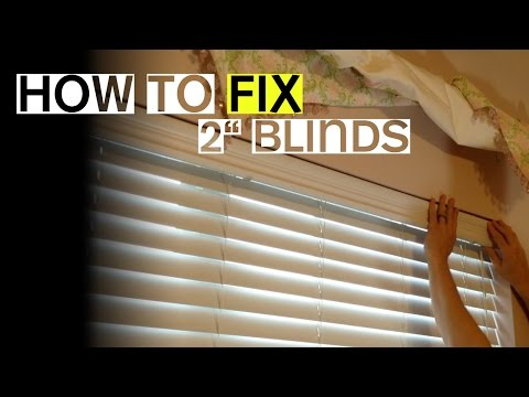 "2"" Blinds Won't Tilt Open or Close? Here's a Fix."
