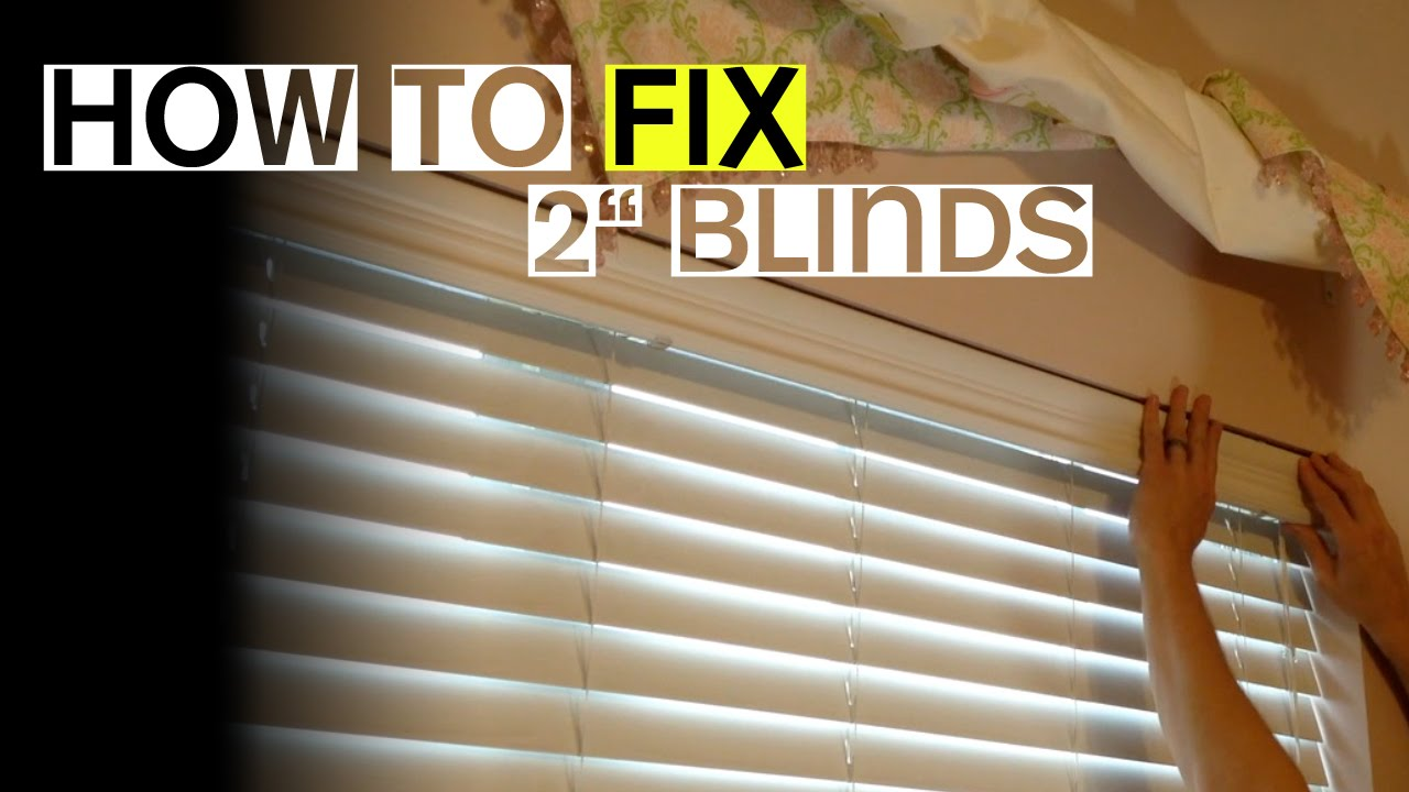 2 Blinds Wont Tilt Open Or Close Heres A Fix Youtube