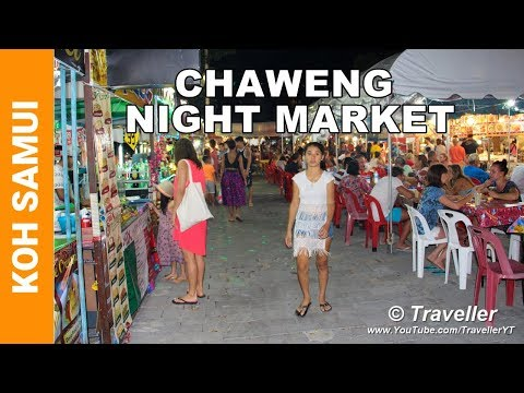 Chaweng Beach Night Market – Top Attractions Koh Samui – Food market on Chaweng Road – Ko Samui