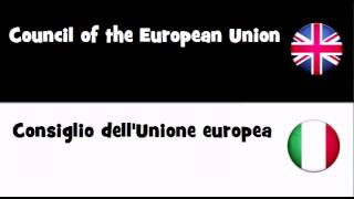 Say it in 20 languages # Council of the European Union