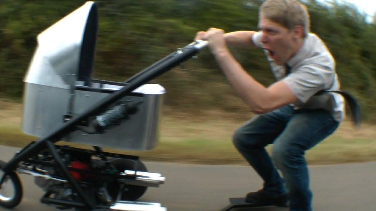 Worlds fastest pram stroller youtube Motorized baby stroller