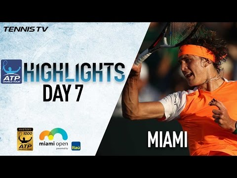 Highlights: Zverev, Nadal, Federer Win At Miami 2017 Tuesday