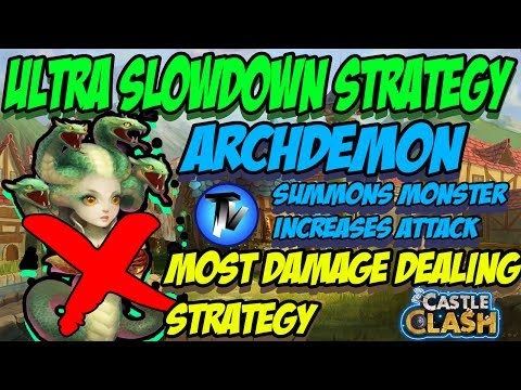 Castle Clash - Archdemon | Ultra Slowdown Strategy | Most Damaging Heroes And Strategy