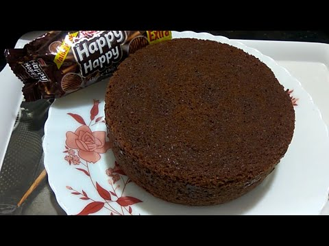 Happy Happy Biscuit Cake in Pressure Cooker Recipe | Eggless Yummy Biscuit Cake Recipe Without Oven