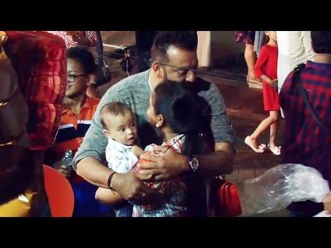Salman Khan's Sister Arpita & Nephew Ahil At Sanjay Dutt's Kids Birthday Party