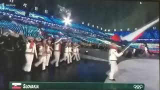 Slovenská výprava OH 2018 Otvárací ceremoniál.