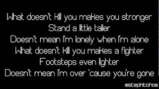 ★ LYRICS | Kelly Clarkson - What Doesn