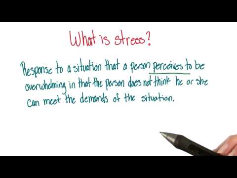 Definition of stress - Intro to Psychology