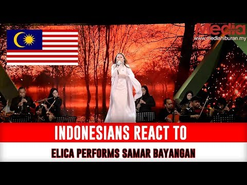 Indonesians React To ELICA sing SAMAR BAYANGAN Mentor Milenia 2017 Akhir