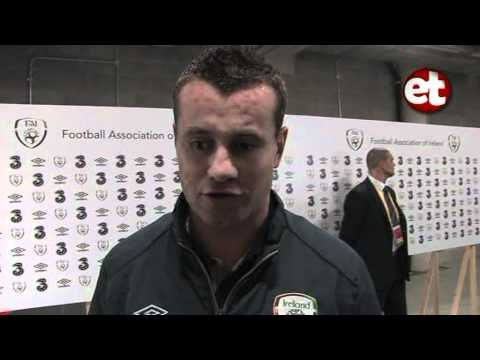 Shay Given and Kevin Kilbane Post Andorra