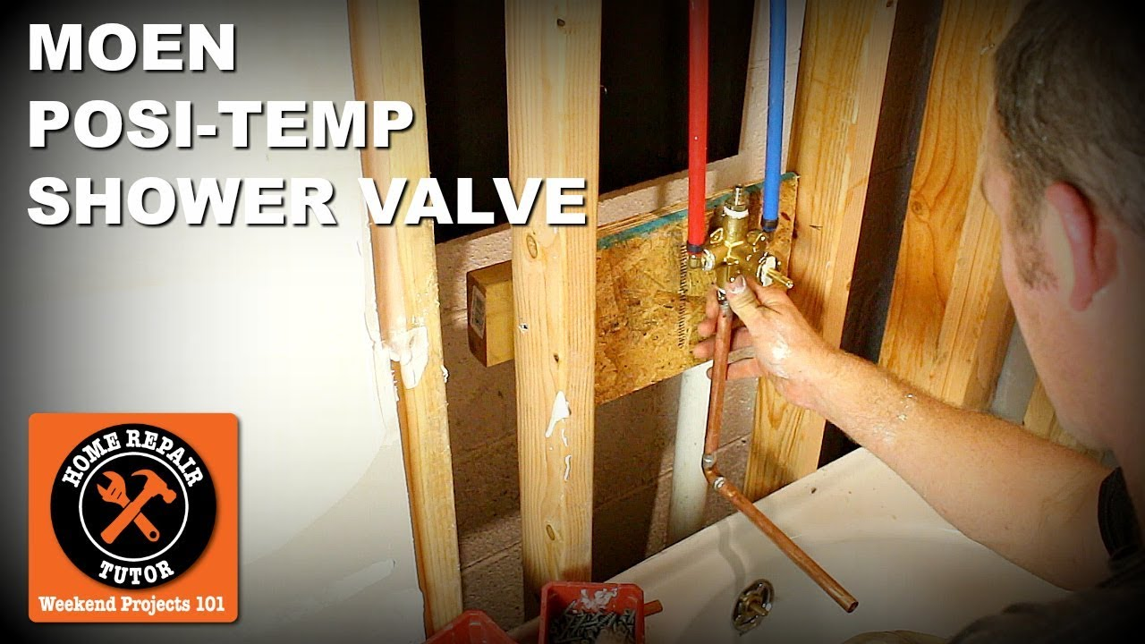 How To Install A Moen Posi Temp Shower Valve Pex And Copper Pipes By Home Repair Tutor
