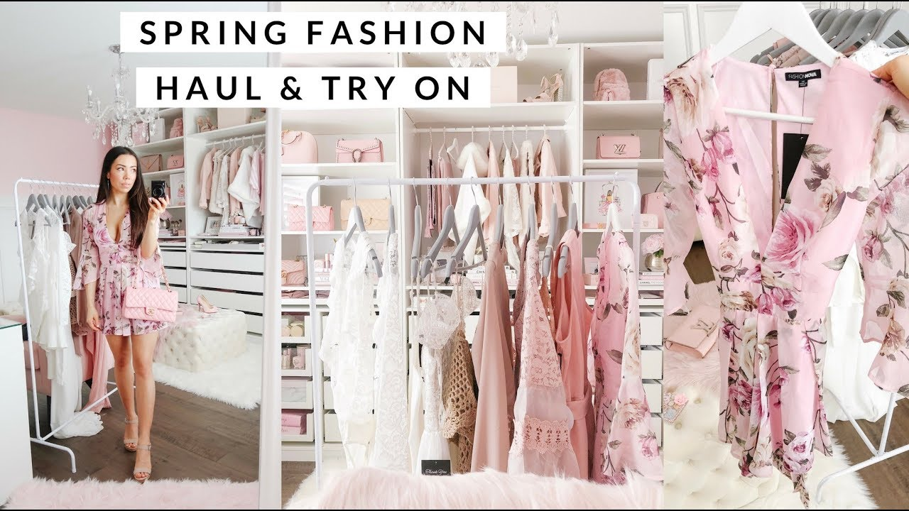 aef4feba128e SPRING FASHION CLOTHING HAUL AND TRY ON!💕 - YouTube