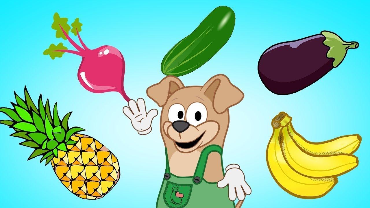 Развивающий мультфильм для малышей Учим фрукты и овощи ...