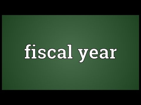 Fiscal year Meaning