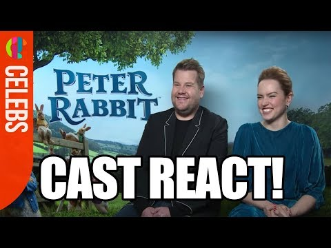 Peter Rabbit Cast | James Corden & Daisy Ridley | Funny Interview