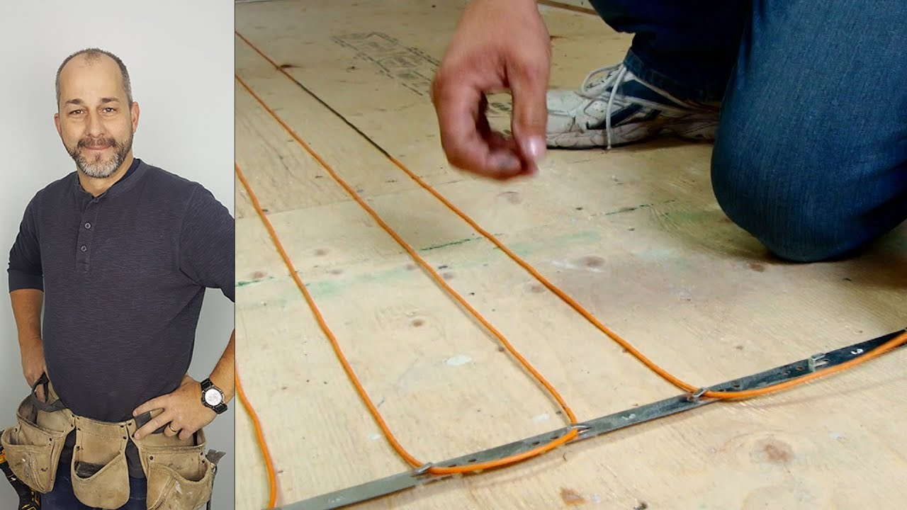 How to install diy radiant floor heating youtube how to install diy radiant floor heating dailygadgetfo Images