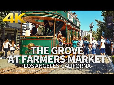 LOS ANGELES - The Grove At Farmers Market, Los Angeles, California, USA, Travel, 4K UHD