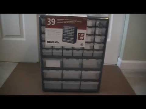 Superbe Review  Stack On 39 Drawer Storage Cabinet   YouTube