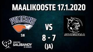 Pelicans SB - SB Heinola | Miesten Salibandy 2. divisioona | 17.01.2020 maalikooste