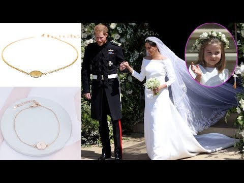 Meghan designed a bespoke gold bracele as a thank gift who supported her at the wedding