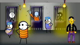 Stickman Jailbreak 4 ПОБЕГ ИЗ ТЮРЬМЫ 12 ЗАМКОВ, прохождение логической игры #1