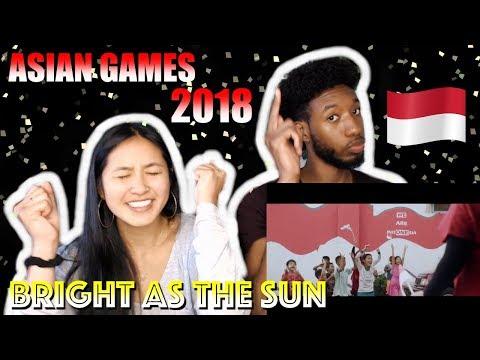 ENERGY18 - BRIGHT AS THE SUN - OFFICIAL SONG ASIAN GAMES 2018   REACTION