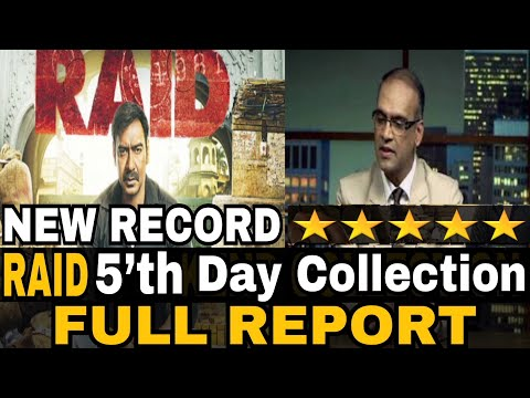 Raid 5th Day Collection | Raid Total Collection | Full Report | Ajay Devgn | Ileana D'cruz