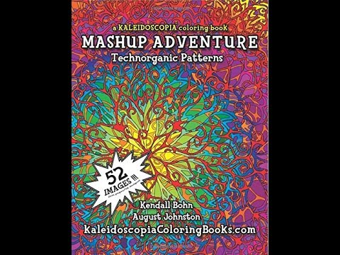 Flip Through Kaleidoscopia Mashup Adventure Coloring Book
