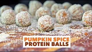 EASY Vegan Recipes: Pumpkin Spice Protein Balls