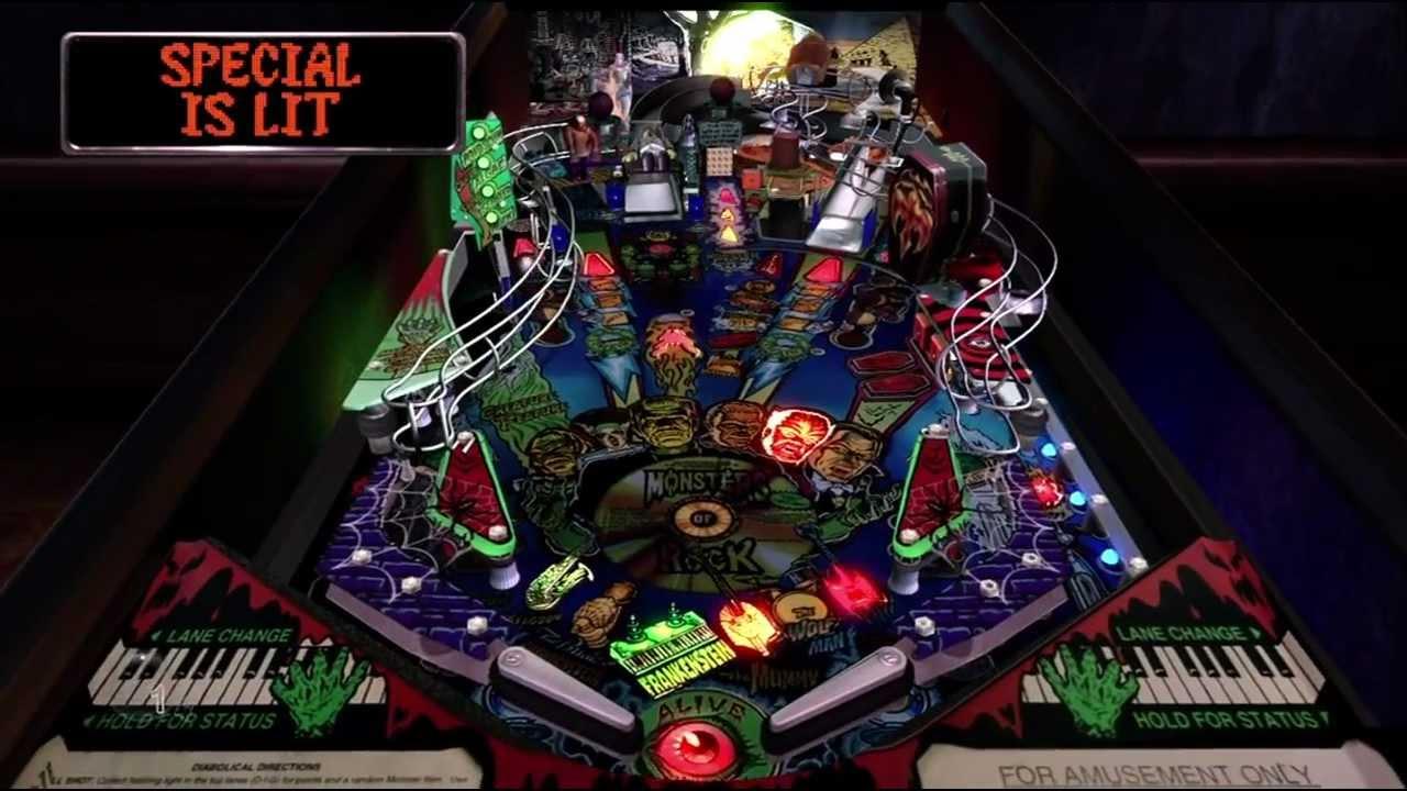 Monster Bash The Pinball Arcade Xbox 360 720P gameplay 1998 Williams  Electronics