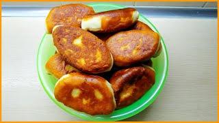 Вкусные жареные пирожки с картошкой из дрожжевого теста