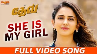 She Is My Girl Full Song (Tamil) | Karthi | Rakul Preet | Harris Jayaraj