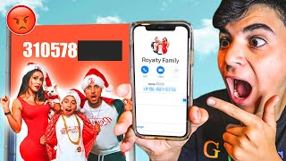 EXPOSING THE ROYALTY FAMILY NUMBER AT 3AM!! **THEY BROKE INTO MY HOUSE!**