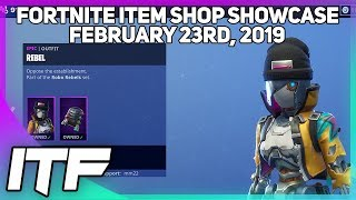 Fortnite Item Shop 'NEW' REBEL ET REVOLT SKINS! [23 février 2019] (Fortnite Battle Royale)