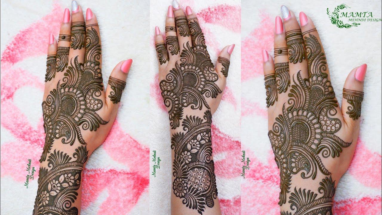 Latest Stylish Arabic Mehndi Design 2020 | New Back Hand Mehndi Design | Mamta Mehndi Design