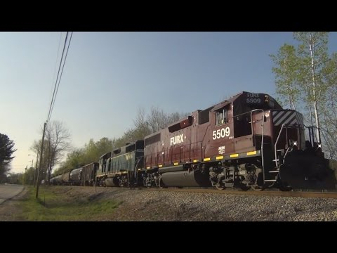 HD Railfanning the New Hampshire Northcoast RR: Somersworth NH - May 2016