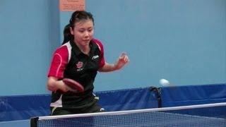 La niña prodigio del ping pong
