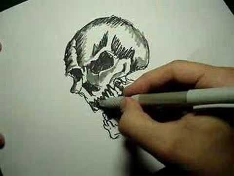 Speed Drawing Skull