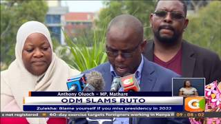 ODM MPs attack DP Ruto over unity handshake