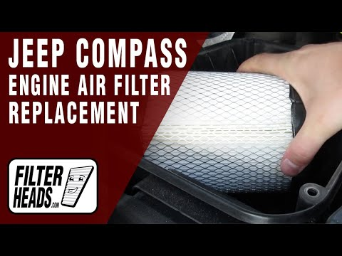 how to replace engine air filter 2011-2014 jeep compass l4 2 4l